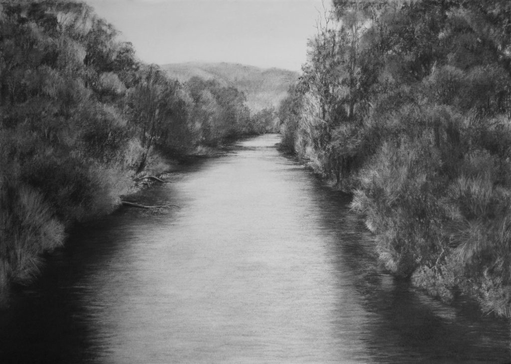 charcoal drawings - paterson river