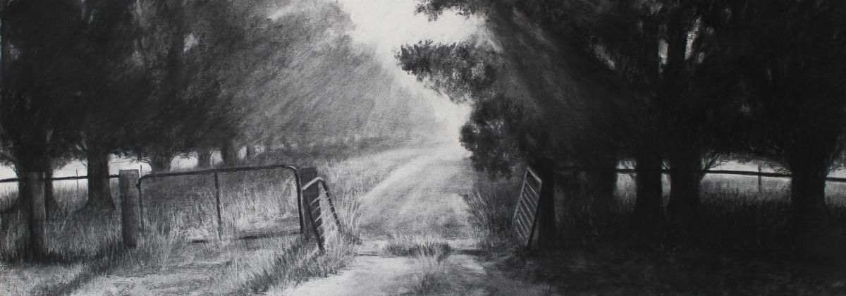 charcoal drawings - breath of dawn
