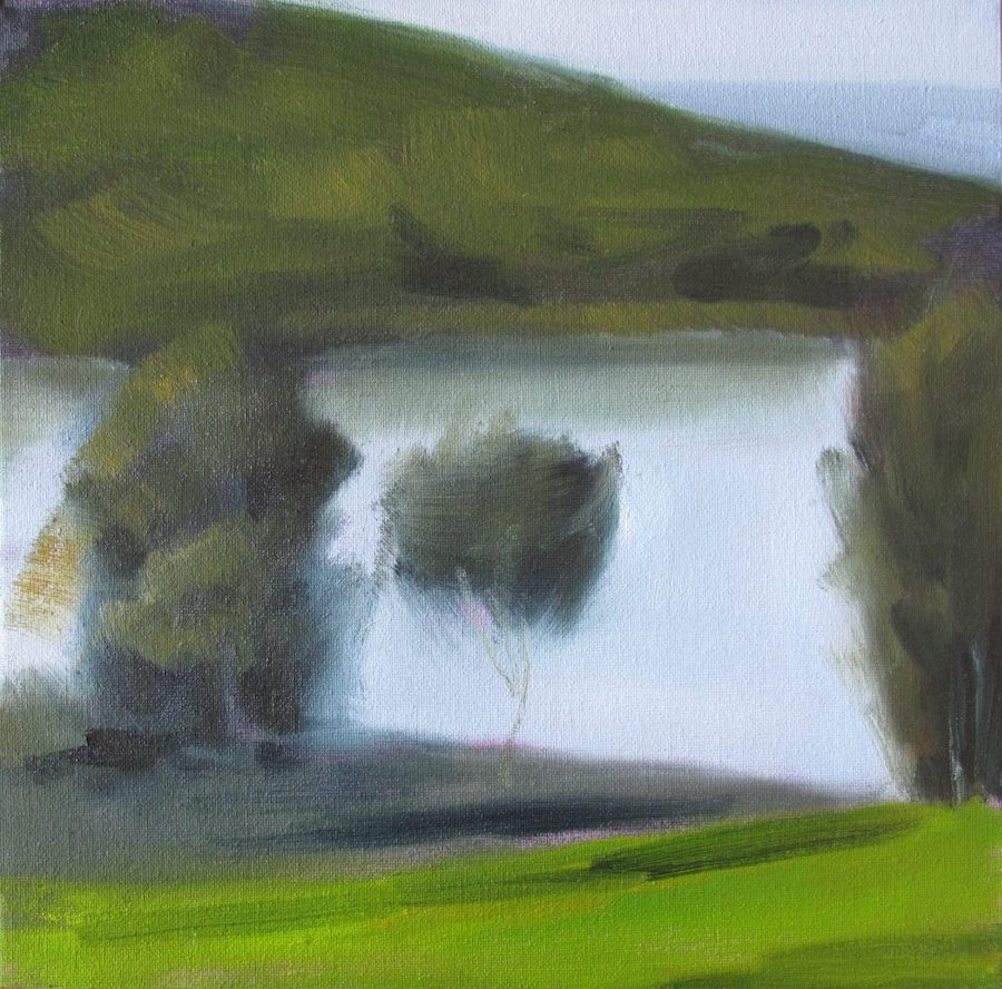 paintings - late afternoon at Glenrock lagoon